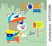 little bear the animals postman ...   Shutterstock .eps vector #659515480