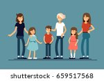 group of mothers with their...   Shutterstock .eps vector #659517568
