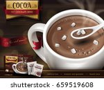 hot chocolate drink ad  with... | Shutterstock .eps vector #659519608