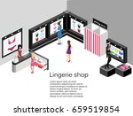 shop of underwear. isometric...   Shutterstock .eps vector #659519854