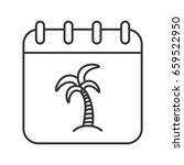 vacations days linear icon.... | Shutterstock .eps vector #659522950