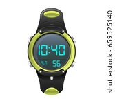 Realistic Sports Watch Vector...