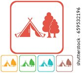 stylized icon of tourist tent.... | Shutterstock .eps vector #659532196