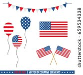 set  collection of 4th of july... | Shutterstock .eps vector #659534338