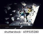 football hottest moments | Shutterstock . vector #659535280
