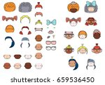 collection of hand drawn vector ... | Shutterstock .eps vector #659536450