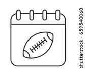 Super Bowl Date Linear Icon....