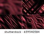 set of abstract dark red... | Shutterstock . vector #659540584