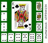 playing cards suit cross on a... | Shutterstock .eps vector #659544154