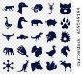 Animal Icons Set. Set Of 25...