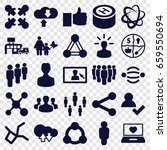 social icons set. set of 25... | Shutterstock .eps vector #659550694