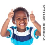african child saying ok... | Shutterstock . vector #659551108