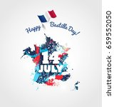 14 july bastille day flyer ... | Shutterstock .eps vector #659552050