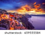 picturesque view  old town of... | Shutterstock . vector #659555584