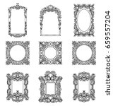 rich imperial baroque rococo... | Shutterstock .eps vector #659557204