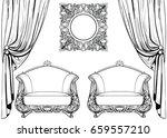 exquisite imperial baroque...   Shutterstock .eps vector #659557210