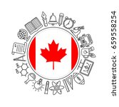 vector canadian school... | Shutterstock .eps vector #659558254