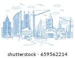 big city landscape with... | Shutterstock .eps vector #659562214