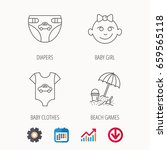 newborn clothes  diapers and... | Shutterstock .eps vector #659565118