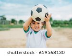 kids are playing soccer... | Shutterstock . vector #659568130
