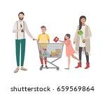 concept for supermarket or shop.... | Shutterstock . vector #659569864