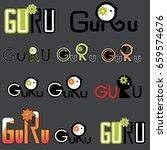 meditation yoga linear logo... | Shutterstock .eps vector #659574676
