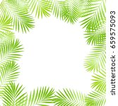 summer tropical palm tree... | Shutterstock .eps vector #659575093