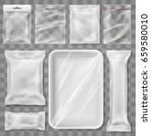 empty plastic packaging... | Shutterstock .eps vector #659580010