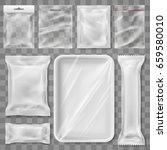 empty plastic packaging... | Shutterstock .eps vector #659580010
