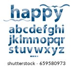 vector of stylized lowercase... | Shutterstock .eps vector #659580973