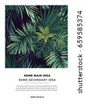 dark summer vector tropical... | Shutterstock .eps vector #659585374