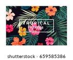 tropical vector postcard design ...   Shutterstock .eps vector #659585386
