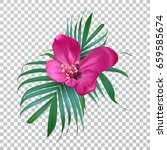vector realistic flower and... | Shutterstock .eps vector #659585674