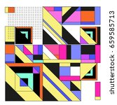 trendy geometric elements... | Shutterstock .eps vector #659585713