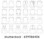 vector illustration of t shirt. ... | Shutterstock .eps vector #659586406