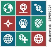 geography icons set. set of 9... | Shutterstock .eps vector #659593729