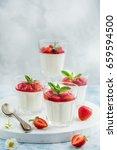 vanilla cream cheese and... | Shutterstock . vector #659594500