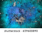 turquoise grunge background | Shutterstock . vector #659600890