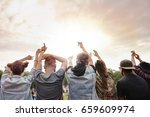 beautiful sunset at the music... | Shutterstock . vector #659609974