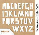 rough uppercase characters cut... | Shutterstock .eps vector #659610463
