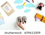 planing trip with child with...   Shutterstock . vector #659611009