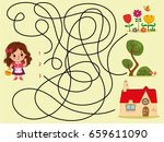 can you help the girl to find... | Shutterstock .eps vector #659611090