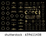 circle and square wicker... | Shutterstock . vector #659611438