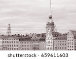 german church and building...   Shutterstock . vector #659611603