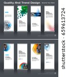 abstract business vector set of ... | Shutterstock .eps vector #659613724