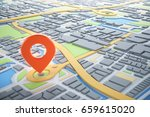 3d map of city with navigator... | Shutterstock . vector #659615020