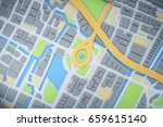 3d map of city with navigator... | Shutterstock . vector #659615140