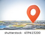 3d map of city with navigator...   Shutterstock . vector #659615200
