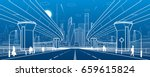 road overpass. big highway.... | Shutterstock .eps vector #659615824