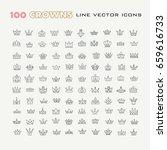 vector heraldic elements design.... | Shutterstock .eps vector #659616733